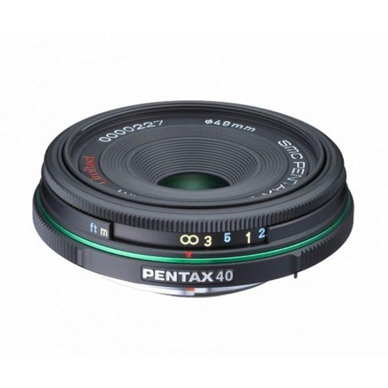 Pentax Limited Case SMC DA 40mm F2.8 Hitam Lensa Kamera
