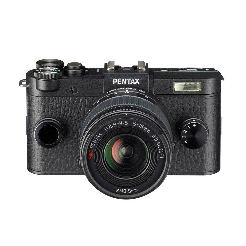 Pentax Q S1 Zoom Lens Kit Hitam Kamera Mirrorless