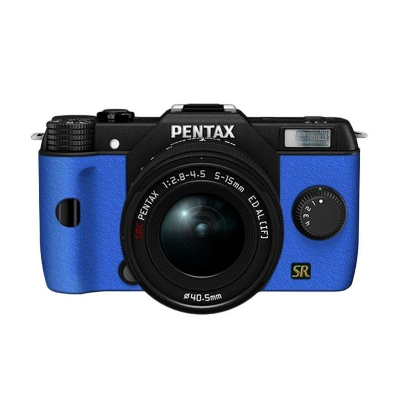 Pentax Q7 Lens Kit Hitam Biru Kamera Mirrorless
