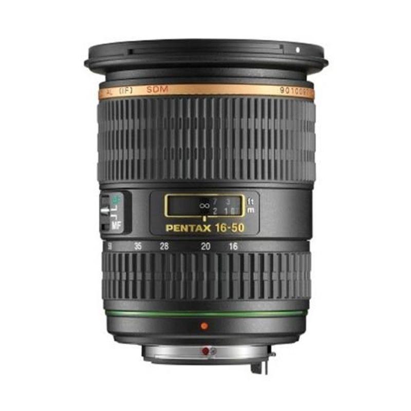 Pentax SMC DA 16-50mm F2.8 ED AL IF W/C Hitam Lensa Kamera