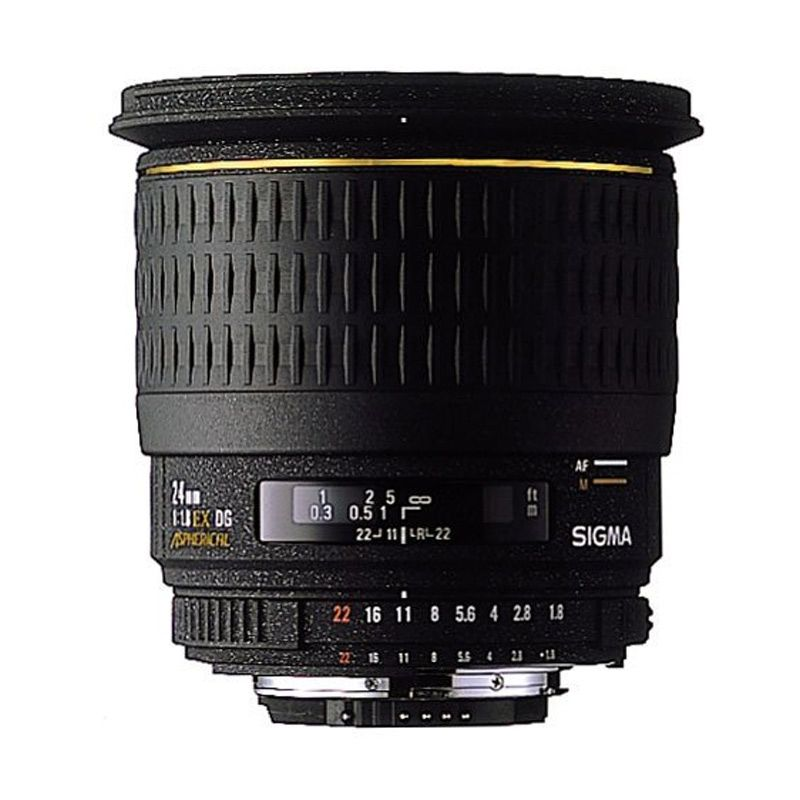Sigma 24mm F1.8 EX DG RF Aspherical Black Lens for Canon