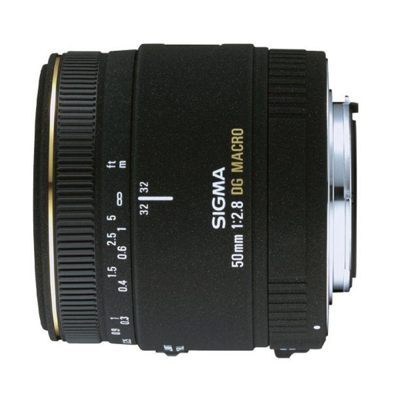 Sigma 50mm F2.8 EX DG Macro Black Lens for Canon