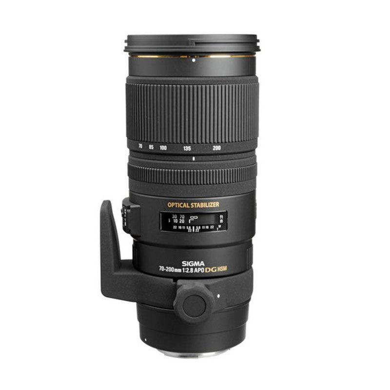 Sigma 70-200 f/2.8 APO EX DG OS HSM Black Lensa Kamera for Canon