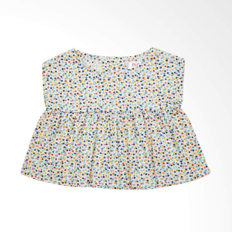 Piega Kidswear Anna Top Blue Atasan Anak Perempuan