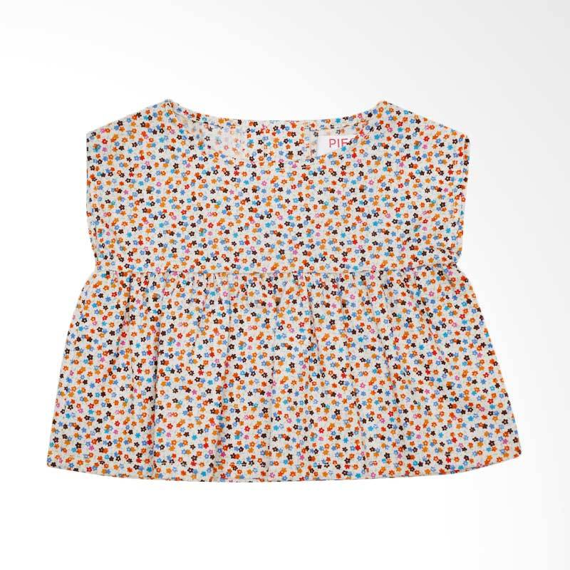 Piega Kidswear Anna Top Orange Atasan Anak Perempuan