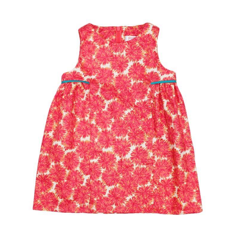 Piega Kidswear Chrysant Pink Dress Anak