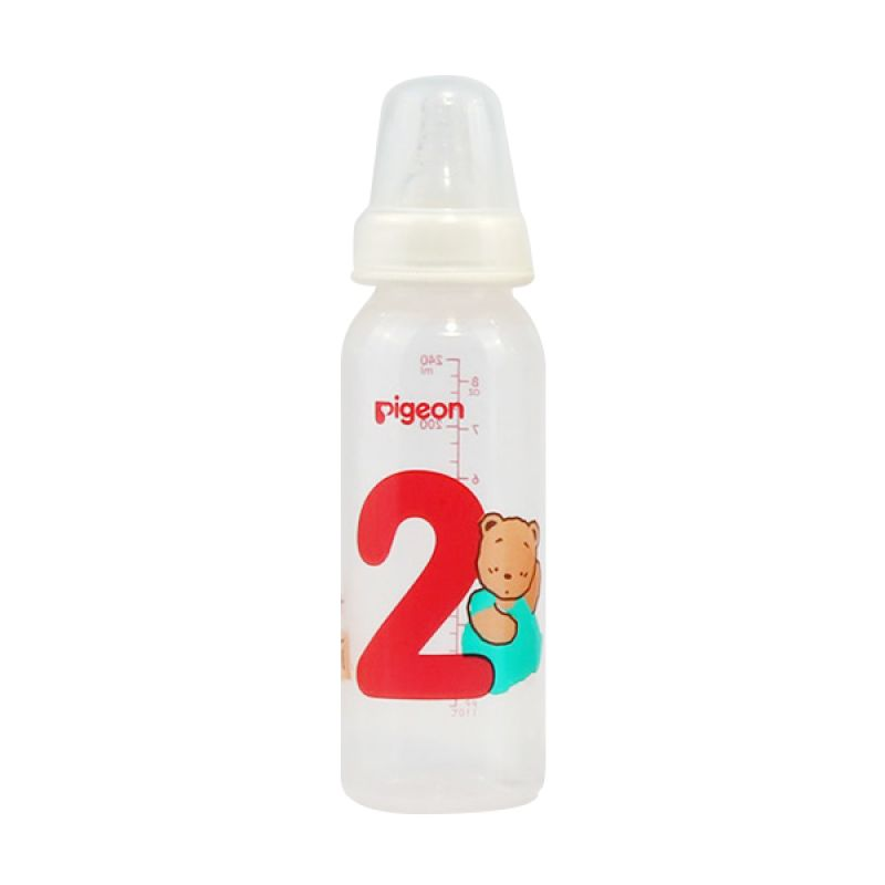 Pigeon Botol PP RP Coro Angka 2 W/S-Type PR010378 Nipple [240 mL]