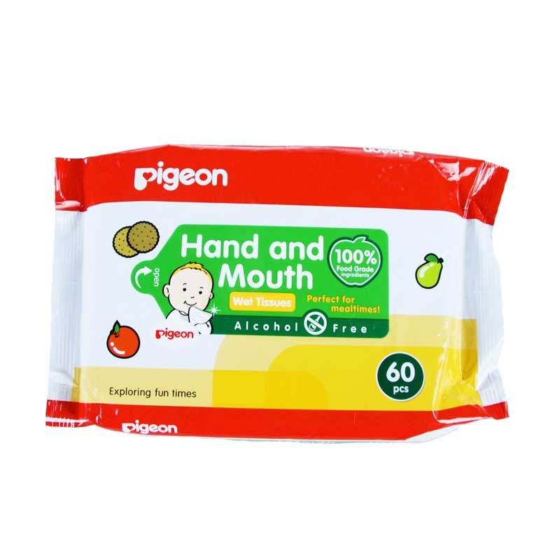 Pigeon Hand and Mouth Wet Tissue [60 Pcs] PR040202