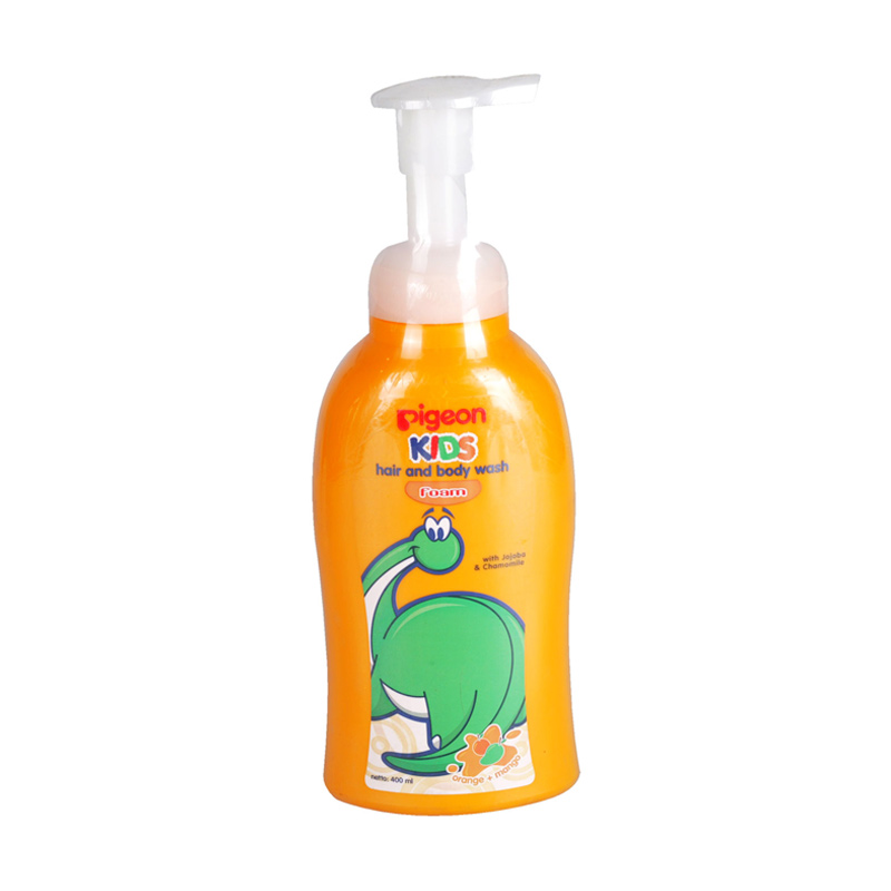 Pigeon Kids Hair & Body Wash Foam Orange Mango [400 mL] Pump
