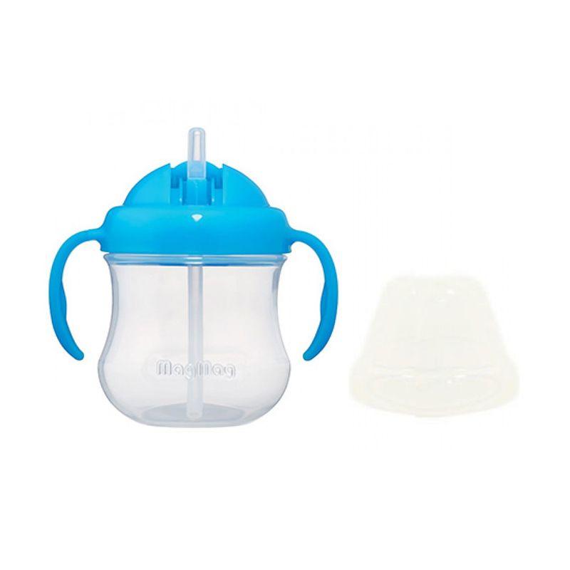 Pigeon Step 3 Mag Mag Import BPA Free Blue Straw Cup [8m+]