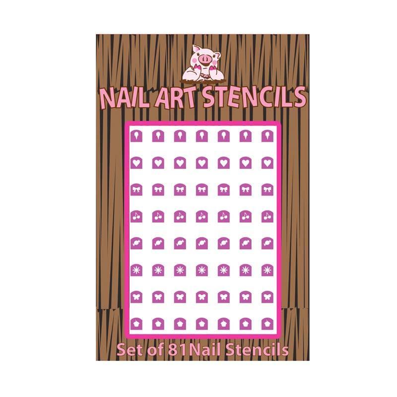 Piggy Paint Stencil Pink - Kutek Anak
