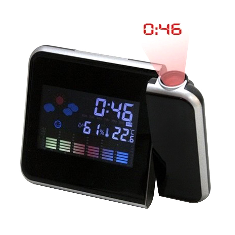 harga Pixel99 Projection Alarm Clock - Black Blibli.com