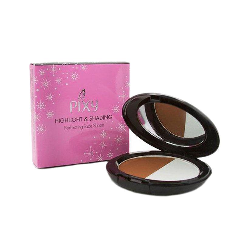PIXY Highlight & Shading Brown & White Riasan Wajah [10 g] Kosmetik