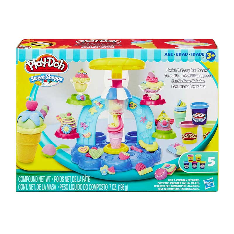 Playdoh SS Swirl N Scoop Ice Cream Mainan Anak