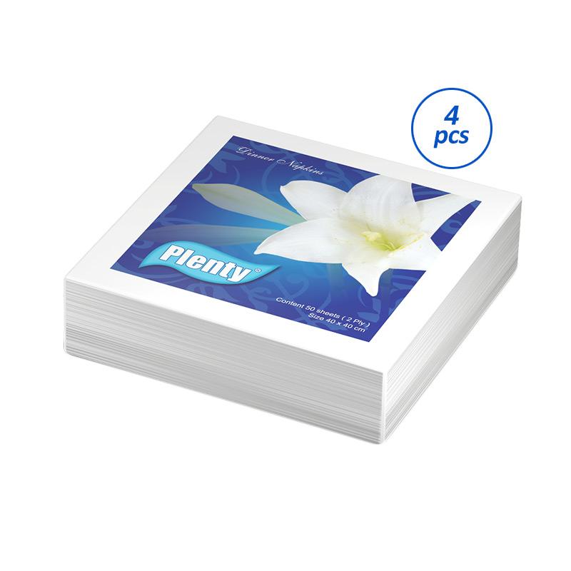 Plenty Dinner Napkin Full Emboss PLDN-002 Tissue [4 pcs/50 sheets]