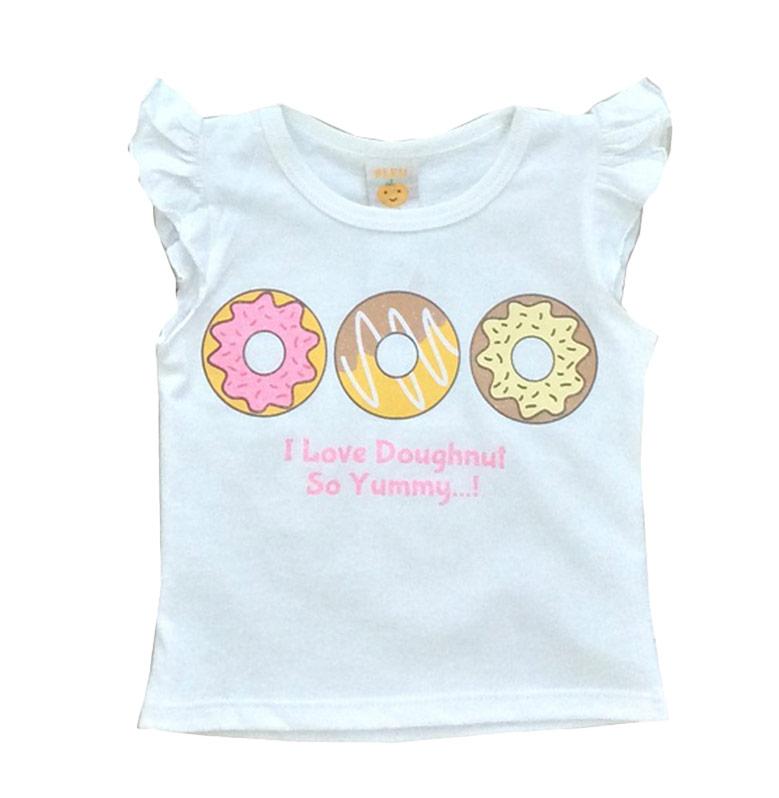 PLEU Blus 3 Doughnut Atasan Anak - White