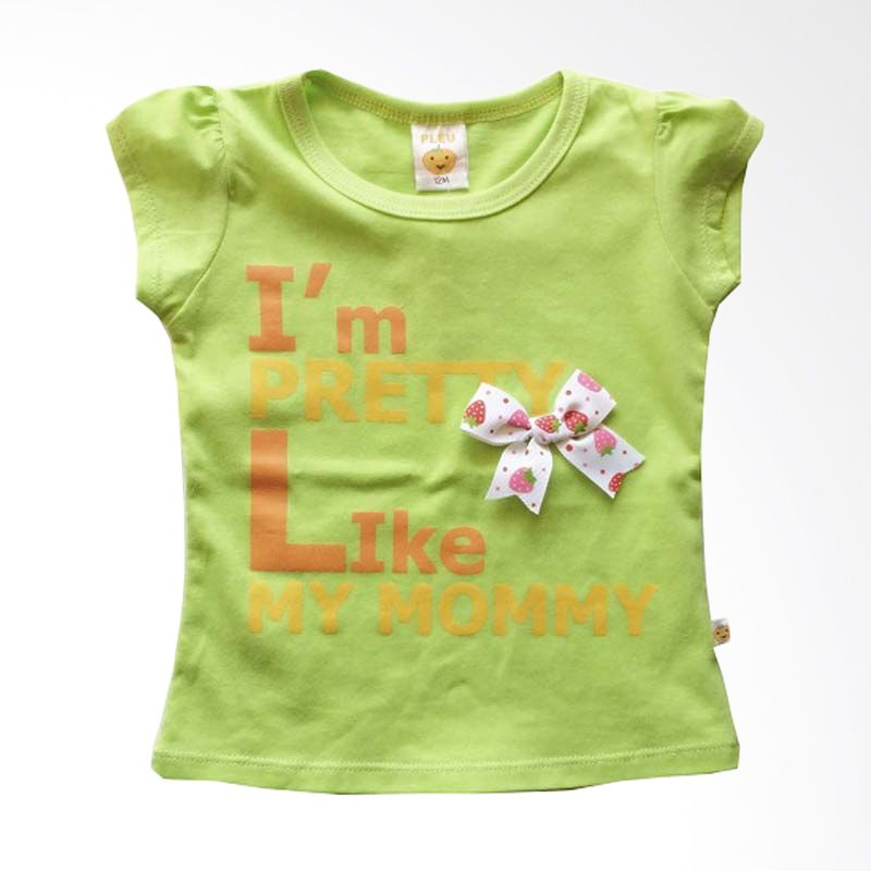 Pleu Blus Pretty-Mommy Lime Green