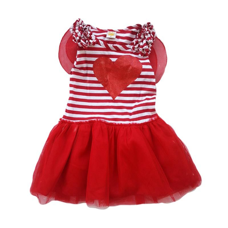 PLEU Dress Tile Sayap Red (18m)