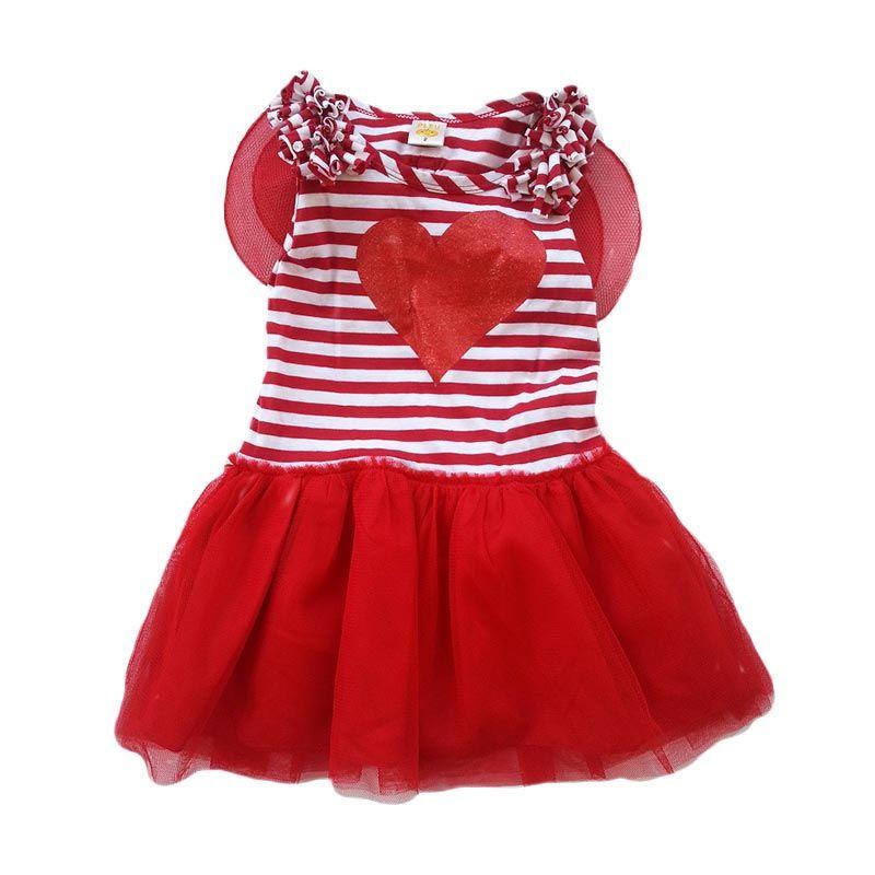 PLEU Dress Tile Sayap Red (2yr)