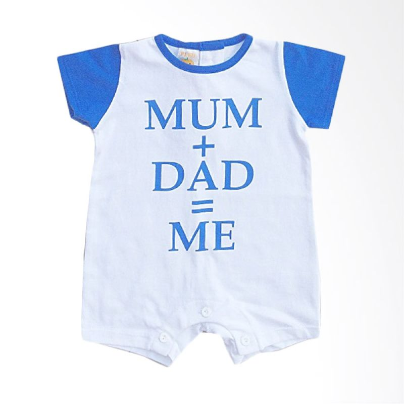 Pleu KBoy Mum Dad Blue Baju Jumpsuit Bayi
