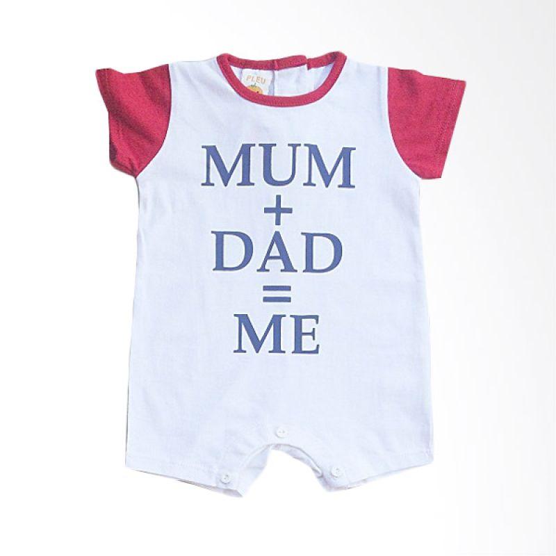 Pleu KBoy Mum Dad Red Baju Jumpsuit Bayi