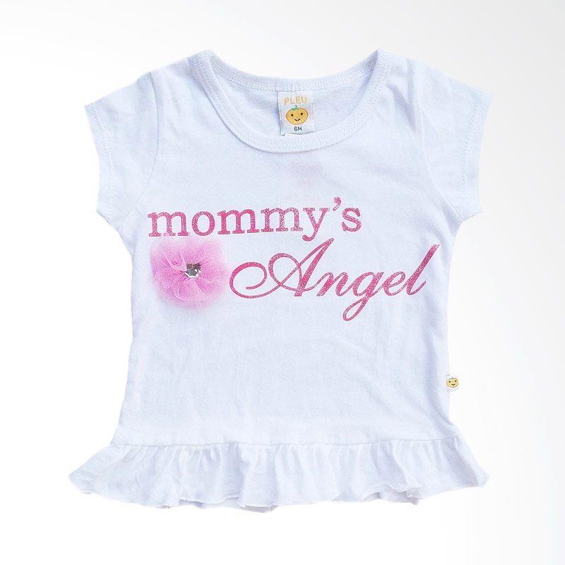 PLEU Mommy's Angel White Baju Anak Perempuan