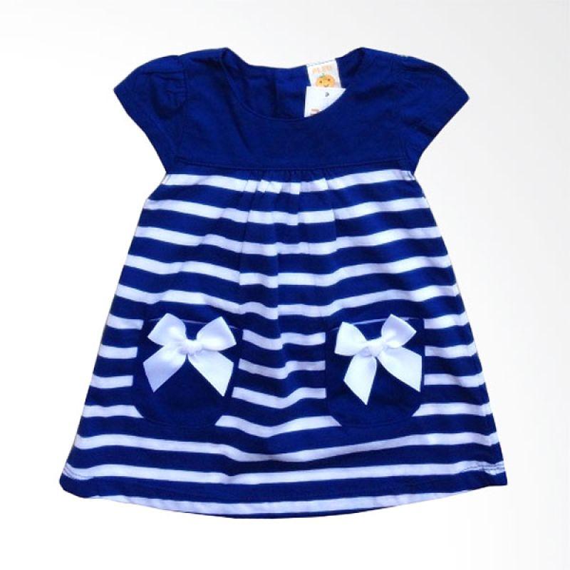 PLEU Salur Kantong Pita Blue Dress Anak