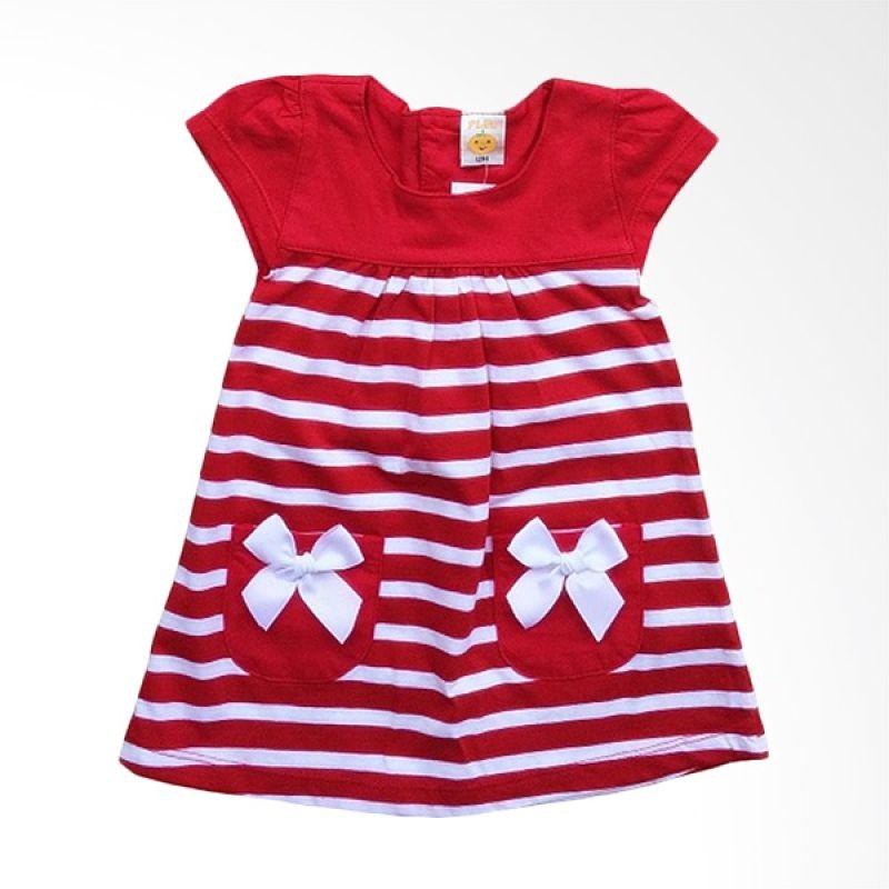PLEU Salur Kantong Pita Red Dress Anak