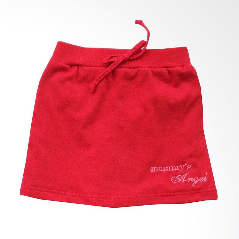 Pleu Skirt Polos Celana Red