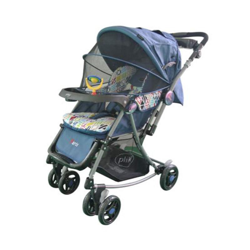 Jual Pliko Kereta Dorong Bayi Baby Stroller Paris - Navy