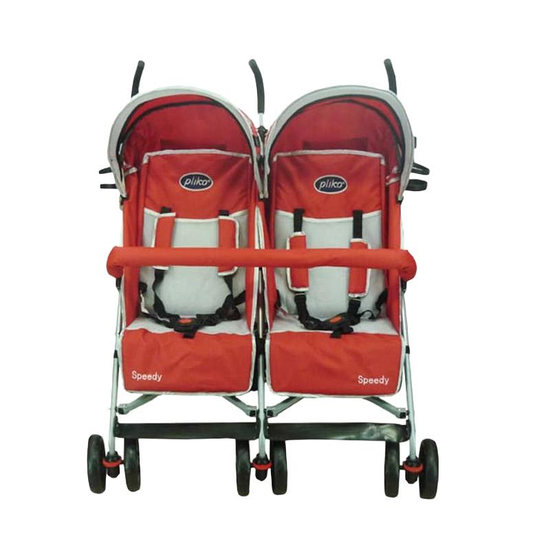harga Pliko 2168 Twin Speedy Red Stroller Blibli.com
