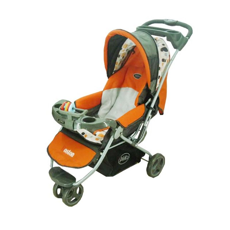 harga Pliko 338 Boston Orange Stroller Blibli.com