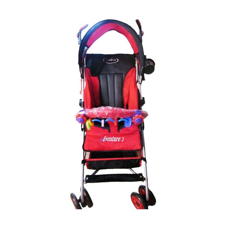 harga Pliko Adventure 2 PK-108 Buggy Baby Merah Stroller Kereta Dorong Bayi Blibli.com