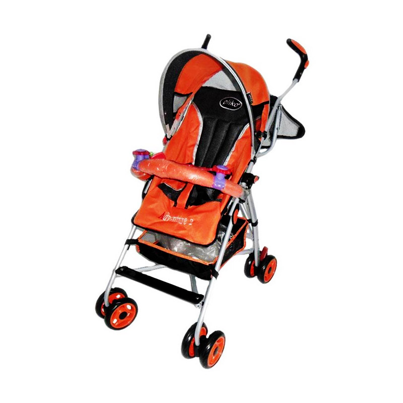 Pliko Adventure 2 PK-108 Buggy Baby Stroller - Orange