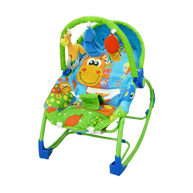 Pliko Rocking Chair Hammock 3 Phases Giraffe Baby Bouncer - Green