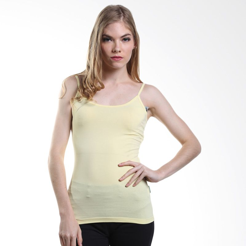 Point One Basic Knit Tank Banana 189640 042.00 Cream Tank Top