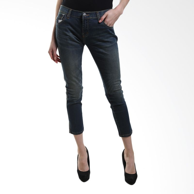 Point One Boyfriend 281461 ( 007.01 ) Dark Blue Skinny Jeans Wanita