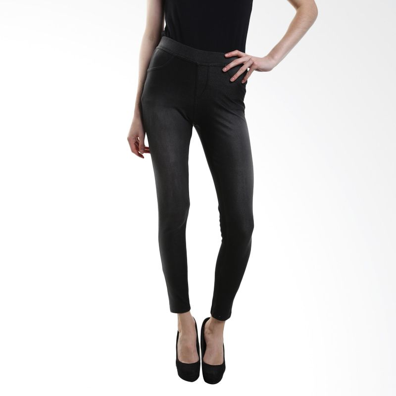 Point One Colorful With Zipper 193361 002.03 Black Legging