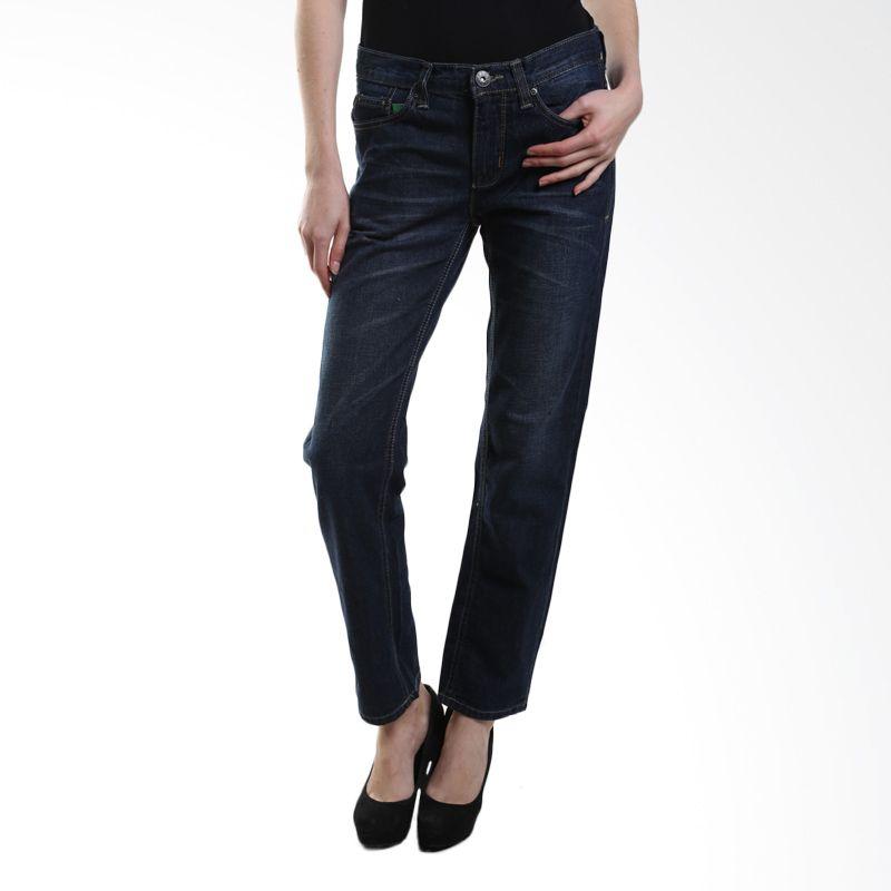 Point One Ripped Boyfriend 282461 ( 007.01 ) Dark Blue Skinny Jeans Wanita