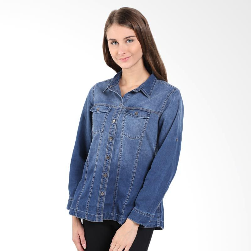 Point One Sally Denim 314881-007.02 Blue Atasan Wanita