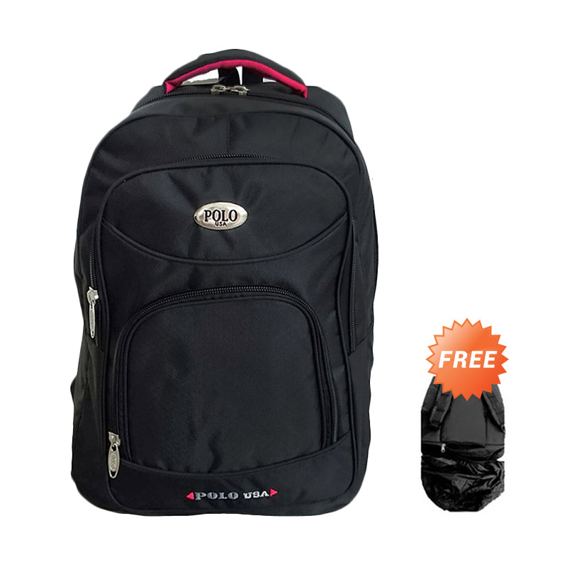 Polo USA Central Backpack - Hitam