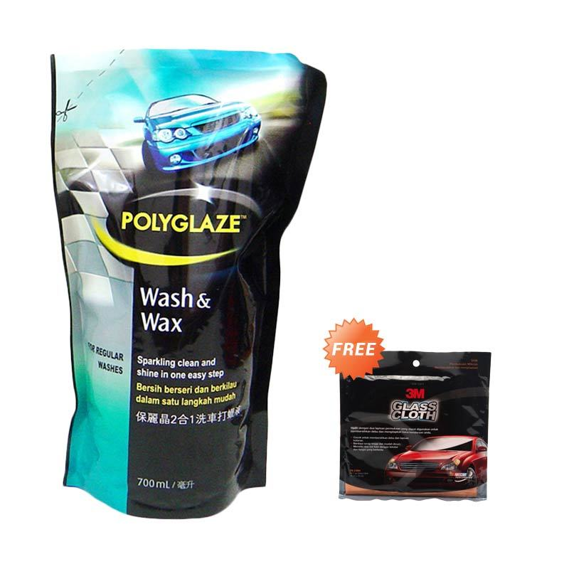 Promo Polyglaze Refill Wash & Wax [700 mL] + Free 3M Glass Cloth