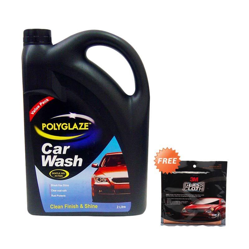 Polyglaze Valuepack Car Wash Cairan Pembersih Mobil [2 L] + Glass Cloth