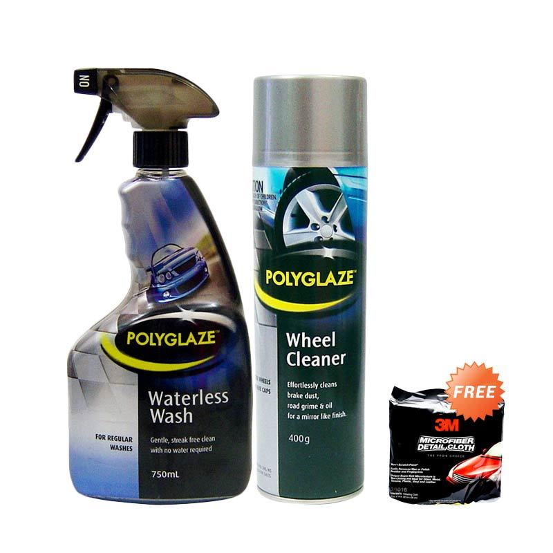 Polyglaze Paket Pembersih Mobil [Waterless Wash 750 mL dan Polyglaze Wheel Cleaner 400 gr]