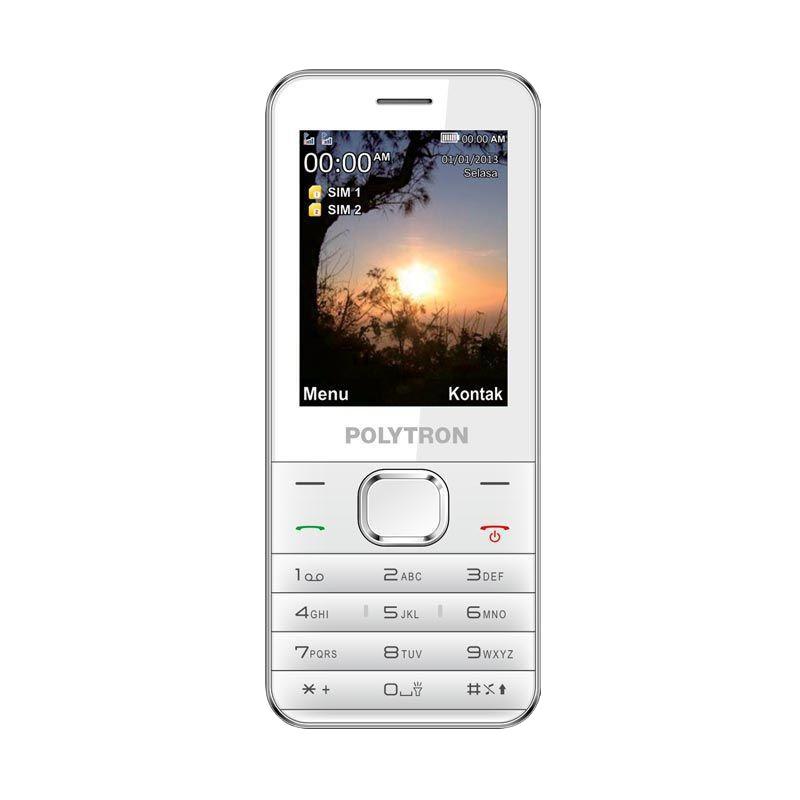 Polytron C201 Handphone - Putih [Dual SIM]