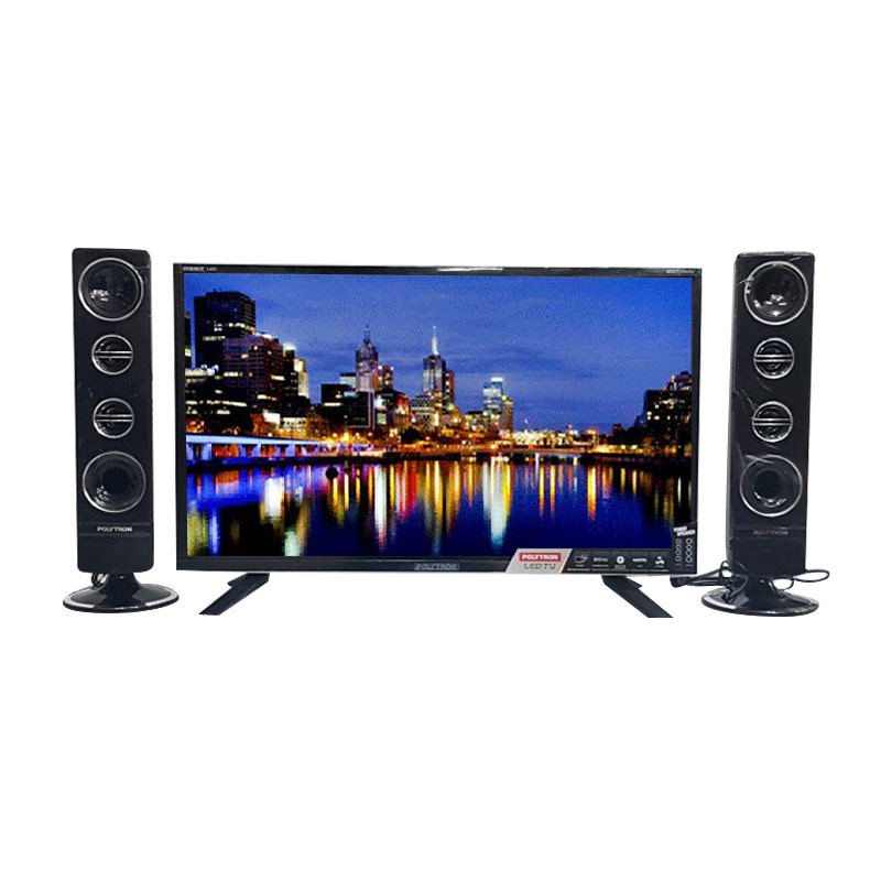 harga POLYTRON PLD32T711 TY TV LED - Hitam [Tower CinemaX/32 Inch] Blibli.com