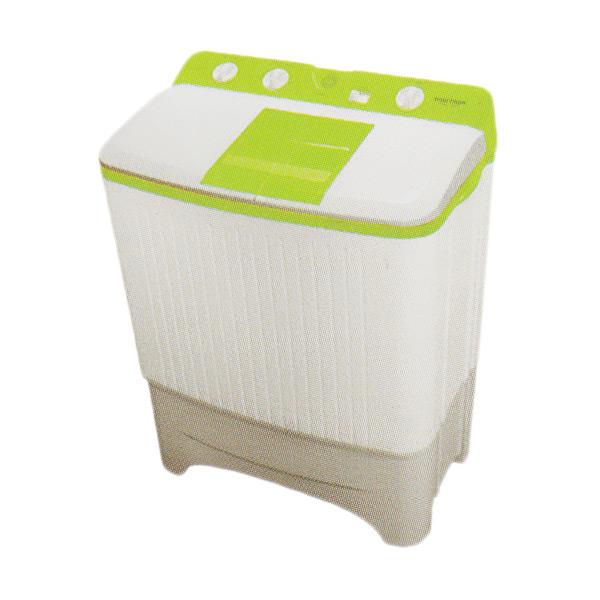 Hot Deals - Polytron PWM-7067 Mesin Cuci - White Green [2 Tabung/7 kg]