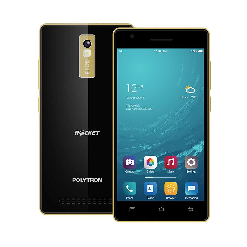jual polytron smartphone rocket r2507 5inch 1gb ram 8gb rom black online harga. Black Bedroom Furniture Sets. Home Design Ideas