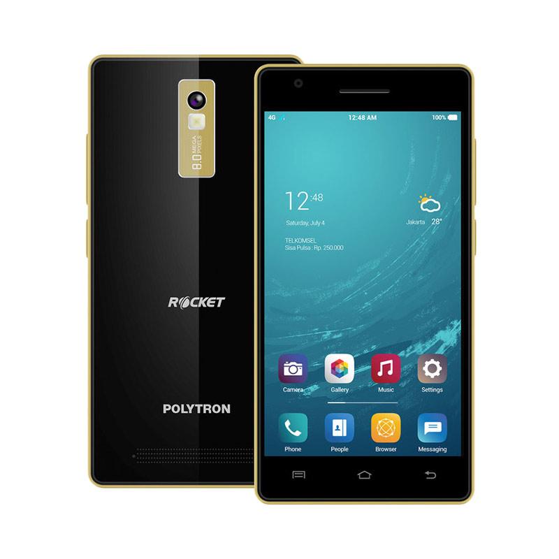 POLYTRON Rocket T3 R2507 Smartphone - Hitam [8 GB]