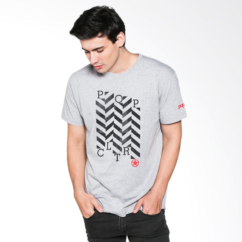 Popculture Zig Zag ST 023 T-shirt Pria - Grey Extra diskon 7% setiap hari Extra diskon 5% setiap hari Citibank – lebih hemat 10%